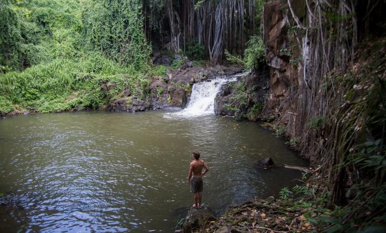 thegoldfishescapades_waterfall_oahu